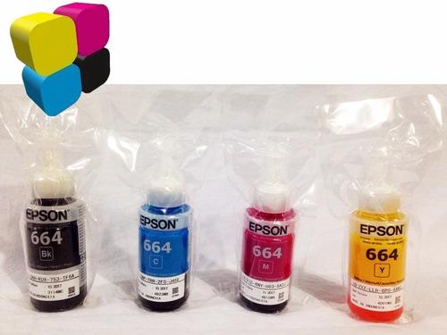 tinta epson original combo t664 par l200 l210 l300 l350 l355