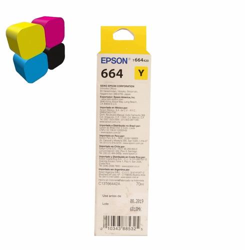 tinta epson original t664 combo l110 l210 l220 l380 l395 l