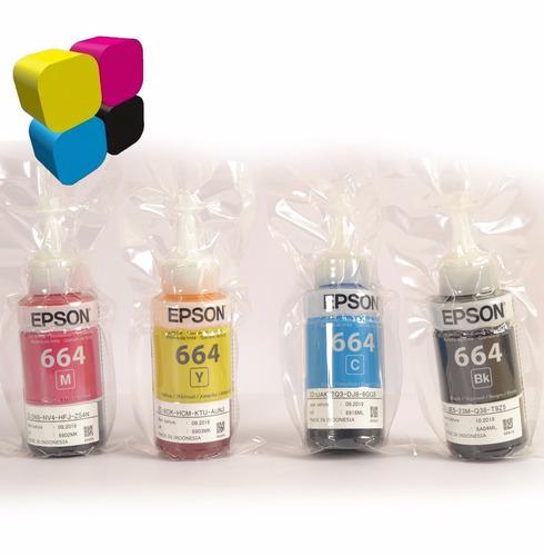 tinta epson original t664 combo l220 l210 l300 l350 l355 l37