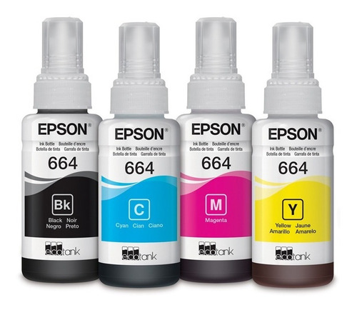 tinta epson t664 magenta ecotank l310 l380 l395 l495 l575