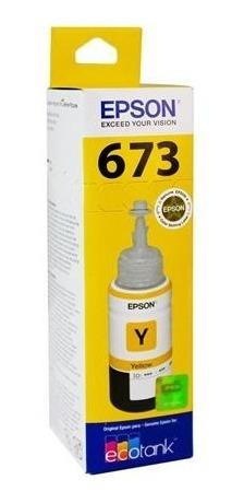 tinta epson t673 amarillo ecotank l805 l810 l850 l1800