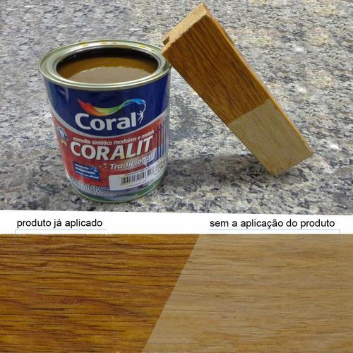 tinta esmalte p/ madeira e metais coral transparente 900ml