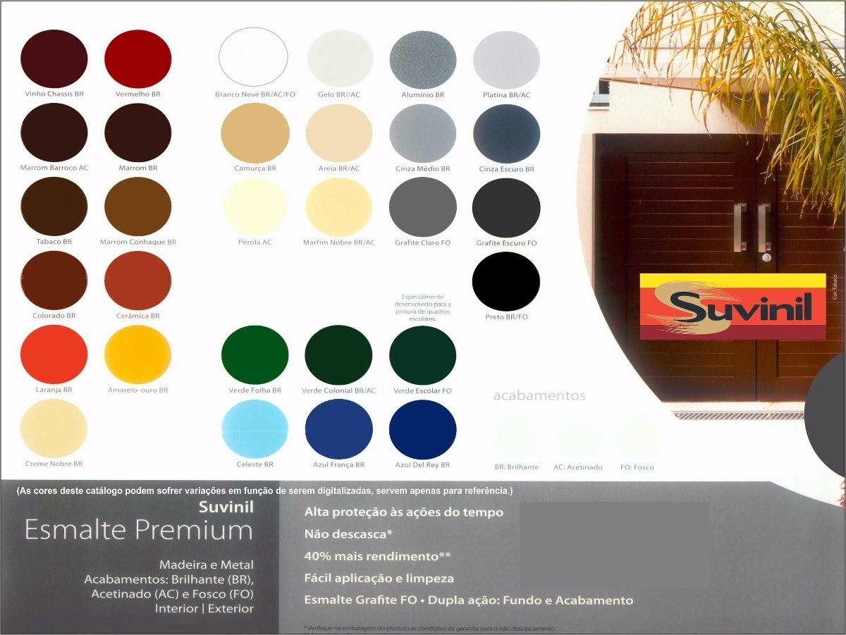 Catalogo Suvinil ~ Tinta Esmalte Sintético Cinza Escuro Brilhante Suvinil 3,6l R$ 93,02 em Mercado Livre