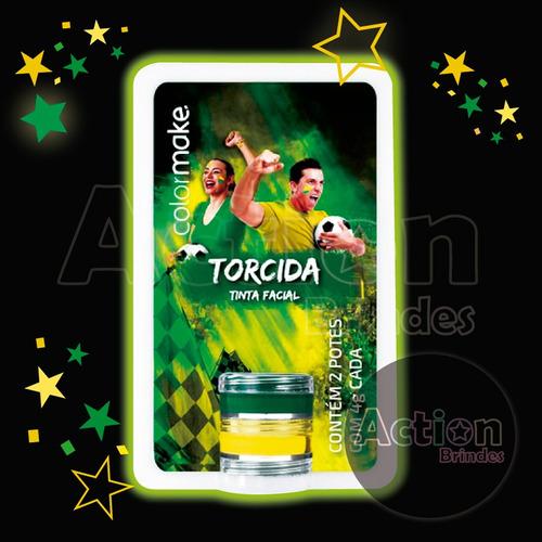 tinta  facial cremosa cartela 2 cores verde e amarelo