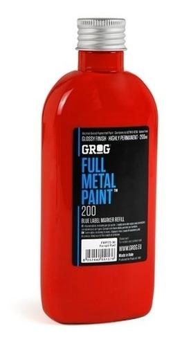 tinta full metal 200 ml squeezer grog para grafitti esmalte
