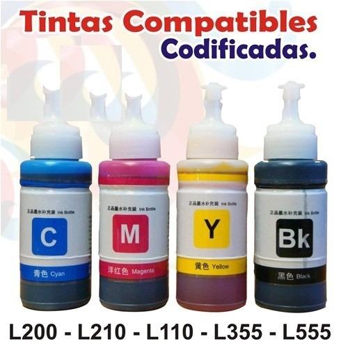 tinta generica epson l110 l200 l210 l350 l355 l555 l800