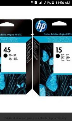 tinta hp 15 45 78 17 garantizada 100%