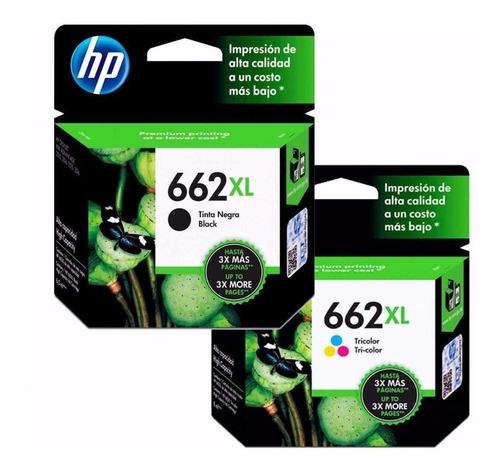 tinta hp 662 xl  pack oferta negro + color