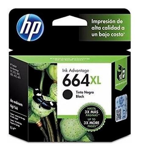 tinta hp 664xl advantage negro (f6v31al)