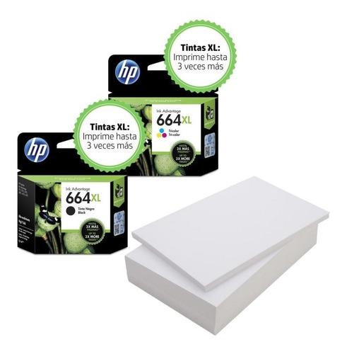 tinta hp 664xl pack negro y color (38 efectivo)