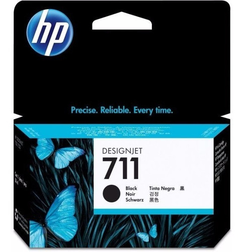 tinta hp black 711 38ml (cz129a)