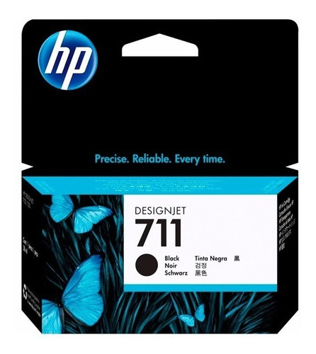 tinta hp black 711 80ml (cz133a)