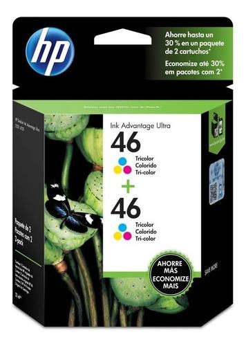 tinta hp m0h59al - 46 color (ultra 2529,4729) packx2