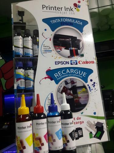 tinta impresora epson 4 colores 120ml