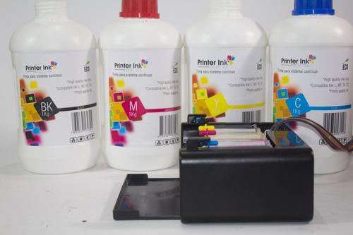 tinta impresora epson litro l220, l355, l555, wf, tx, xp
