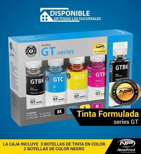 tinta impresora hp formulada 100% garantizada serie gt