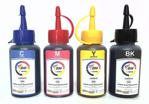 tinta l355 l365 l375 l385 l395 bm chemical kit 4 cores 400ml