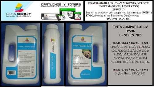 tinta litro epson l120/l200/l300/l355/l455/555  uv calidad