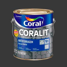 Tinta Madeiras E Metais Coralit Esmalte Antiferrugem Preto 3