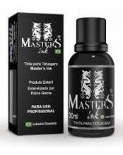 tinta master ink preto linha tattoo 30ml tatuagem + brinde