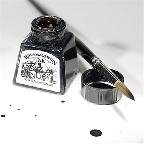 tinta nankin winsor e newton black liquid indian ink 14ml