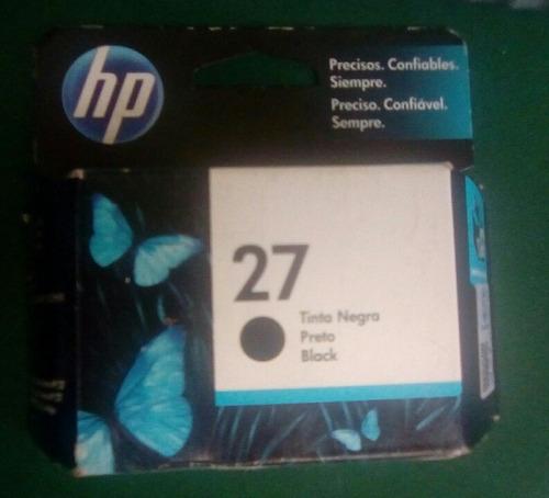 tinta negra cartucho hp 27 nuevo