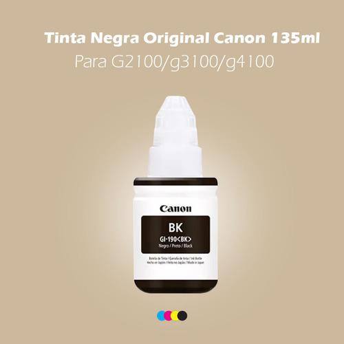 tinta negra original canon 135ml para g2100/g3100/g4100