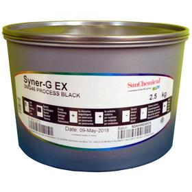 Tinta Offset Plana Synerg Sunchemical  X 2,5 Kg Black Negro