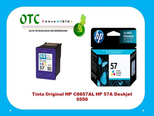 tinta original  c6657al  57a deskjet 5550