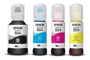 tinta original epson 504 kit 4 colores l4150,4160