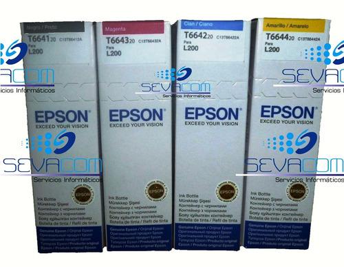 tinta original epson combo 4color l200, l210, l350, l355 555
