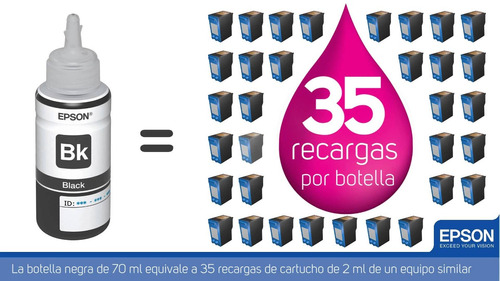 tinta original epson kit 4 colores l220, l375, l395, l575