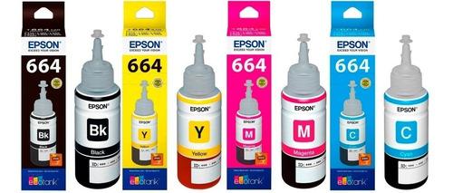 tinta original epson kit 664 rendimiento 70ml sist. continuo