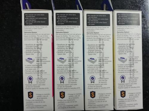 tinta original epson l210,l380,l355,l395,l575 kit 4 colores