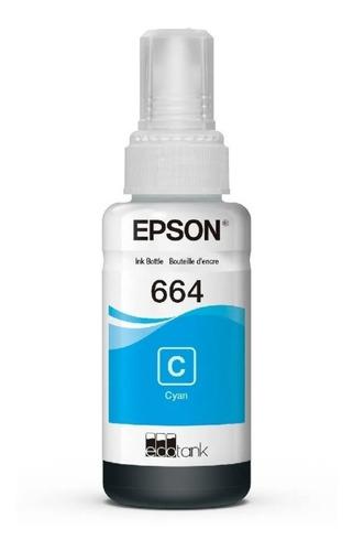 tinta original epson t664 cian