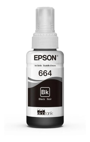 tinta original epson t664 negra