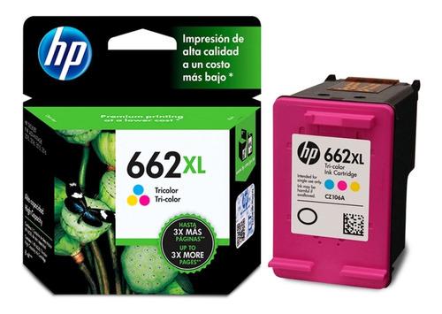 tinta original hp 662 xl color alta capacidad