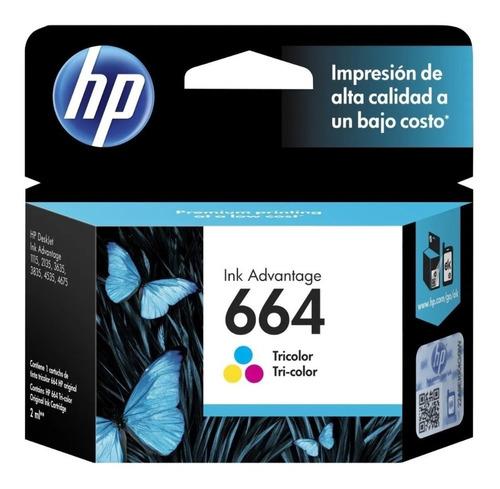 tinta original hp 664 color