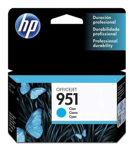tinta original hp 951 cyan 8,5ml