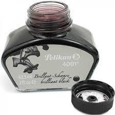 tinta para caneta tinteiro preta black   pelikan 4001 62,5ml
