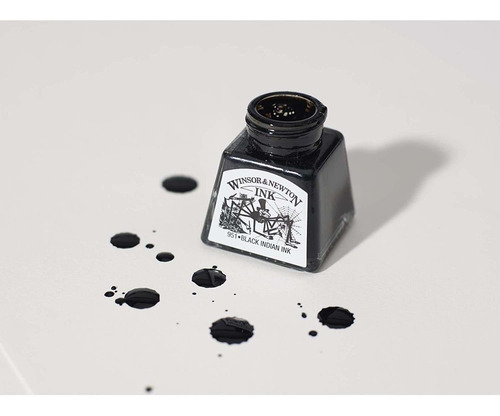 tinta para desenho winsor & newton 14ml liquid indian ink