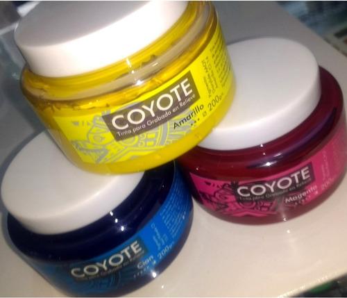 tinta para grabado linoleo coyote 200g disponible 5 colores