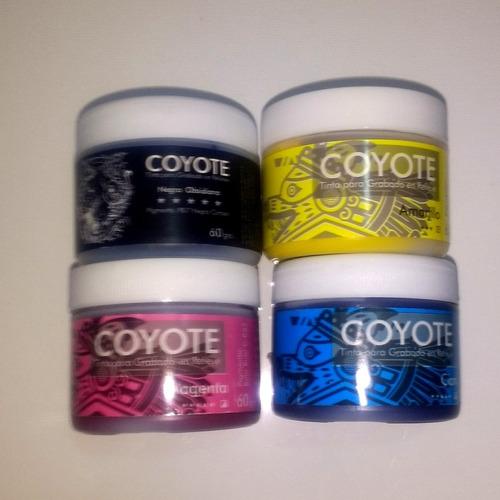 tinta para grabado linoleo coyote 60g disponible 5 colores