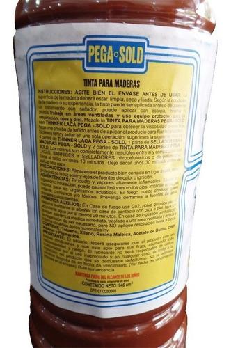 tinta para maderas pega sold color caoba africana 1 litro