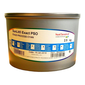 Tinta Para Offset Sunchemical Exact Intense Cyan X 2,5 Kg