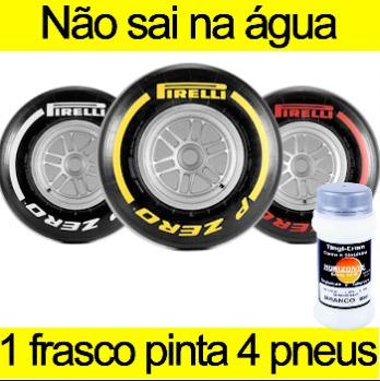tinta para pintar pneu branca caneta pinta pneus carro 100ml