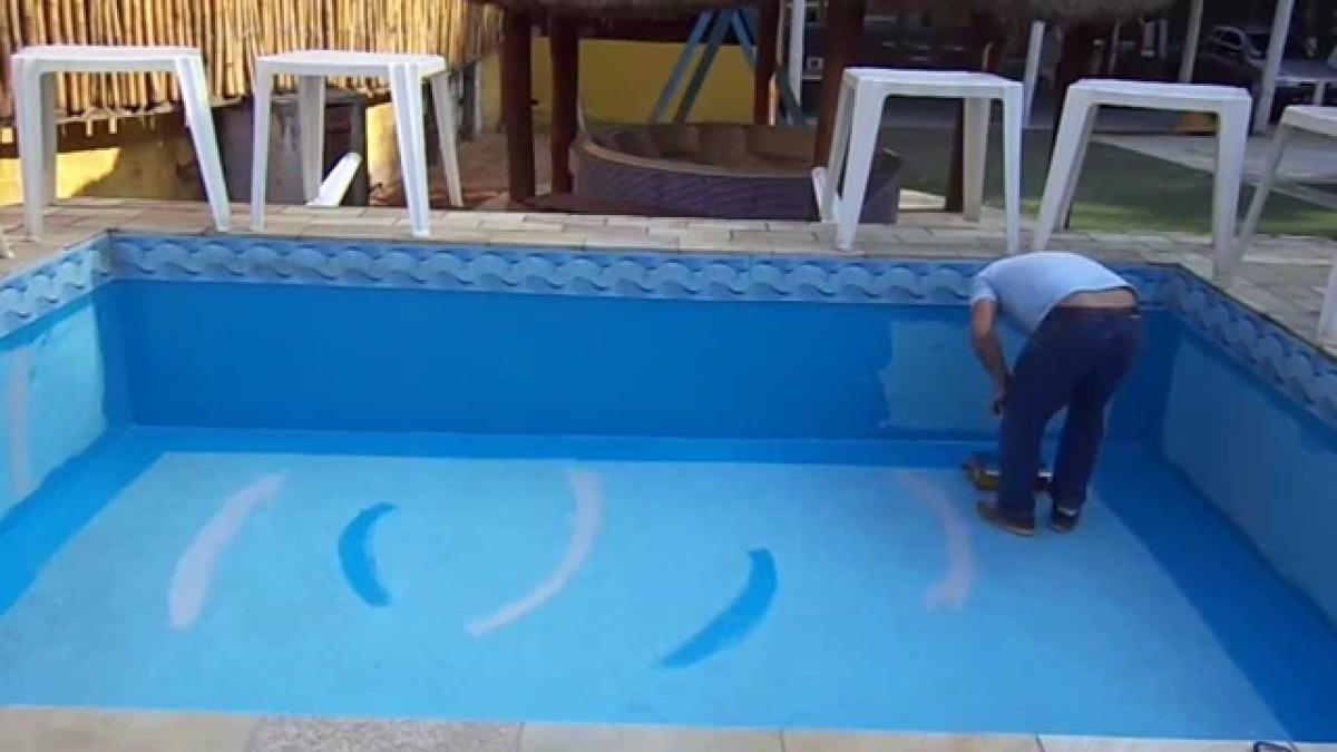 Tinta para piscina e banheira de fibra gel coat 500gr - Pintura para piscina ...