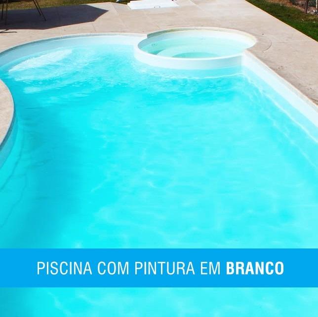 Tinta Para Piscina Fibra Kit Esmalte Pu Premium Branca R 345 00