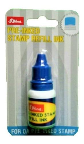 tinta para sello automático shiny tipo gotero color azul