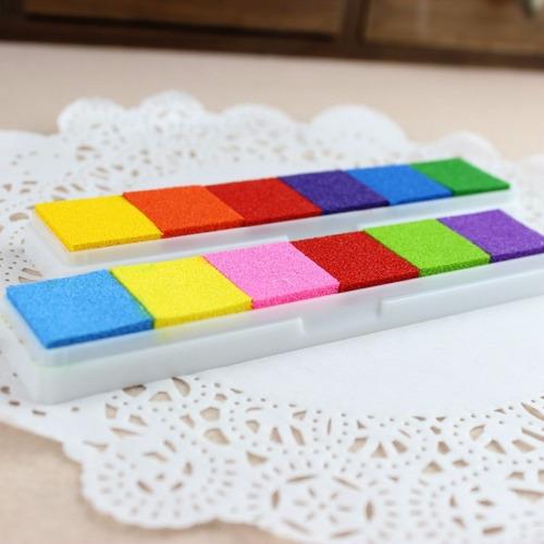 tinta para sellos 6 colores / almohadilla